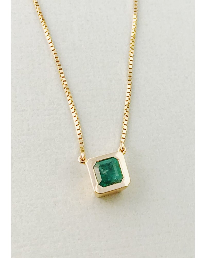 14kt Gold & Emerald Pendant Necklace