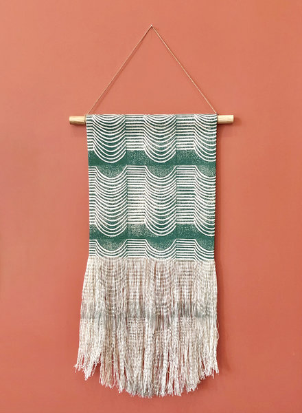 Green Wave Wall Hanging