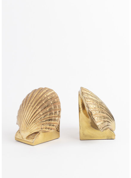 Vintage Gold Shell Bookends