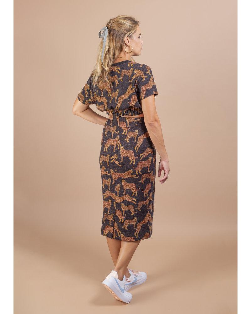Zola Jacquard Pencil Skirt