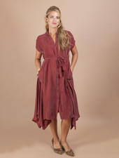 Becky Hankerchief Shirt Dress