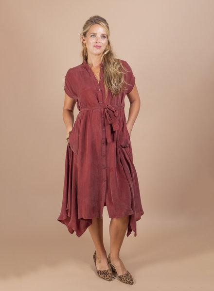 Becky Hankerchief Shirt Dress