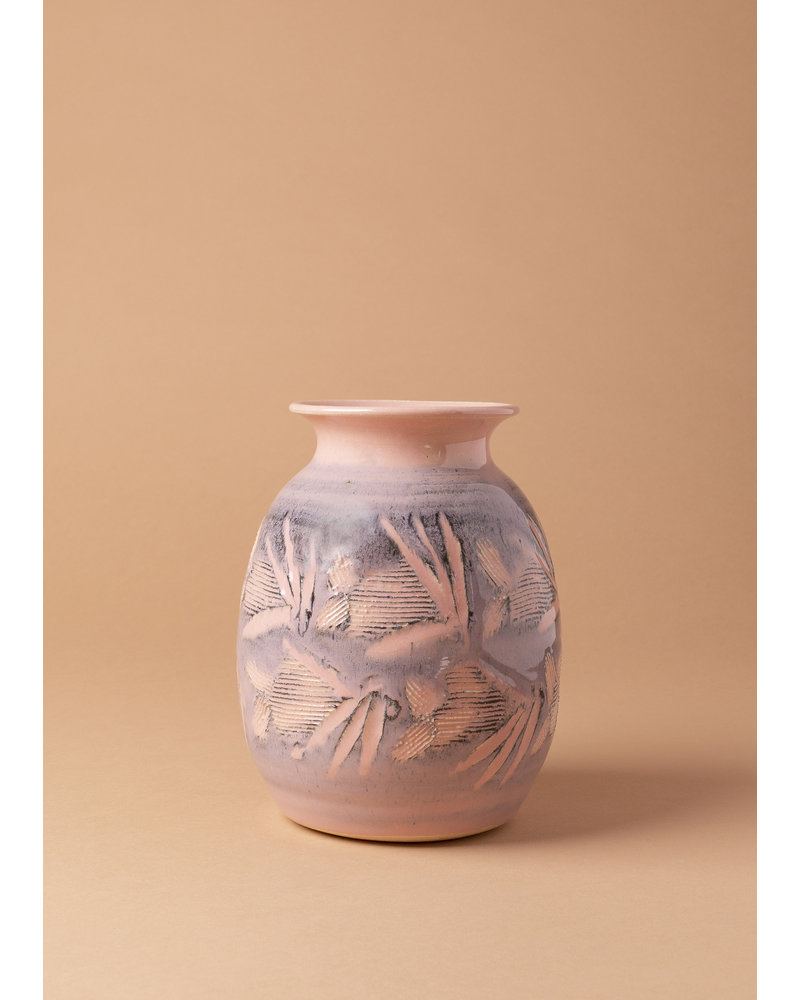 Vintage Pink & Purple Ceramic Vase