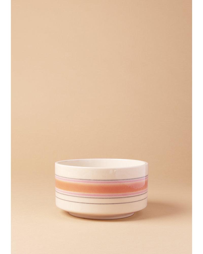 Vintage Striped Pot