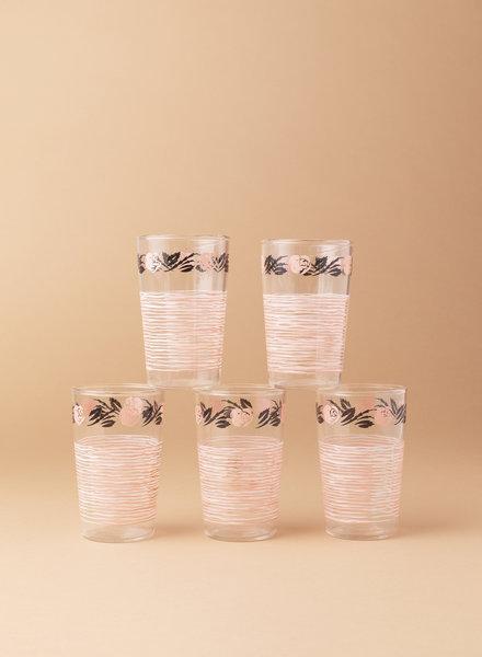 Rose Juice Glasses (set of 5)