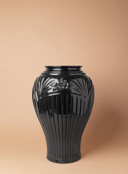 Vintage Black Urn