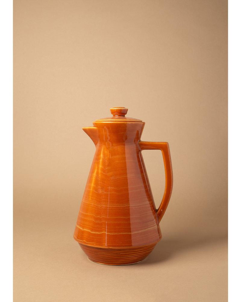 Vintage Orange Glazed Pitcher