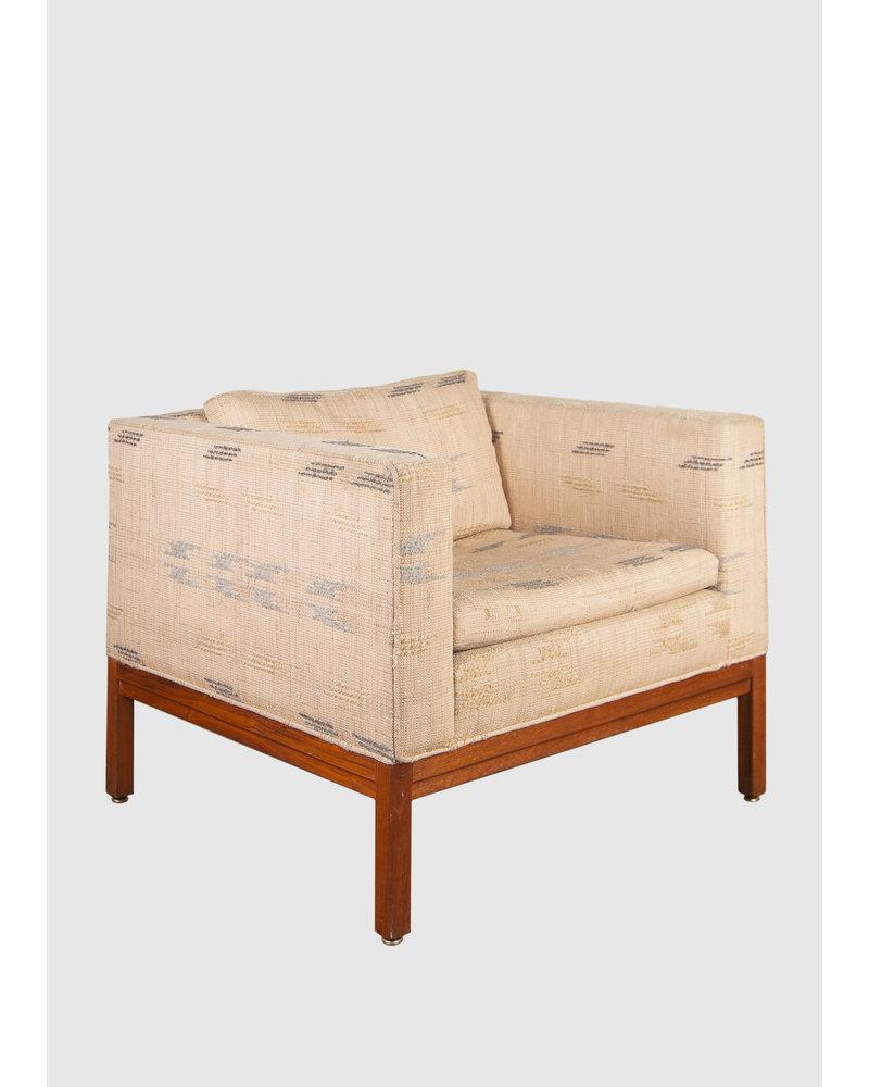 Vintage Square Arm Accent Chair