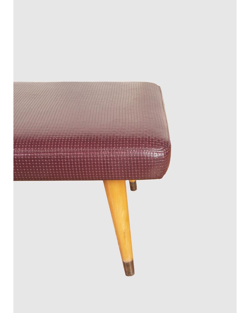 Eskell Woven Leather Ottoman