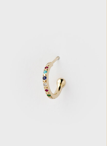 Rainbow Mini Hoop Earring