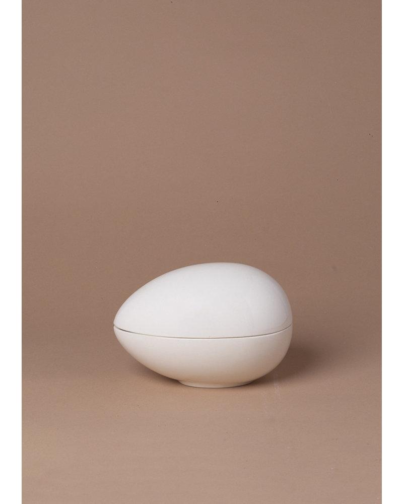 Vintage Ceramic Egg Trinket Box
