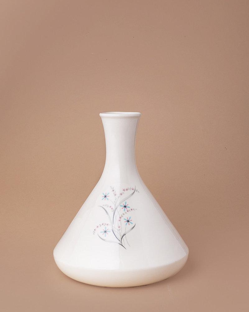 Vintage Floral Painted Vase