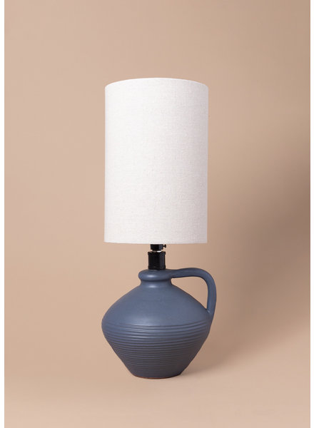 Blue Terracotta Table Lamp