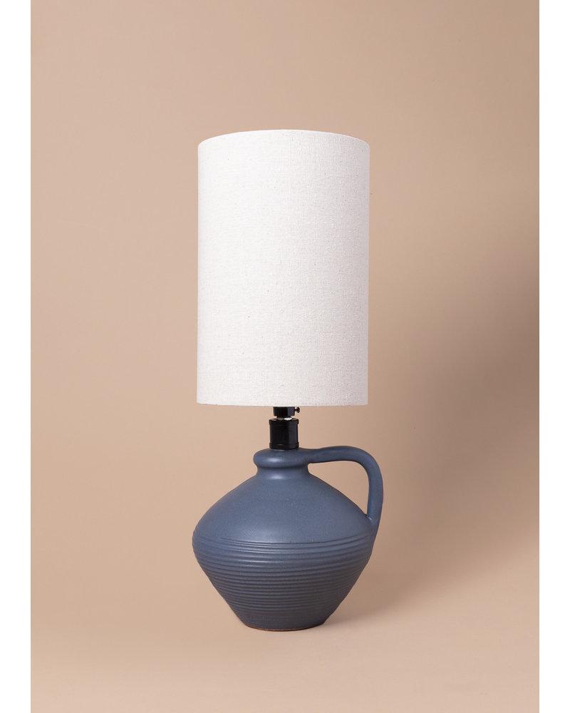 Blue Terracotta Table Lamp