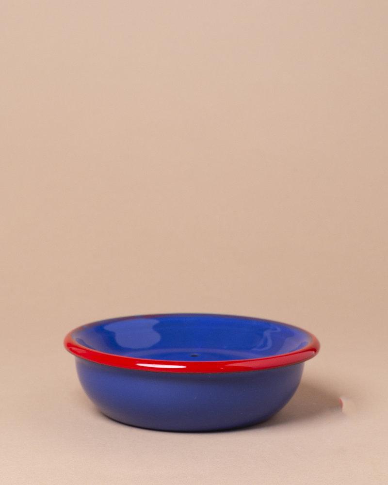 Round Enameled Soap Dish