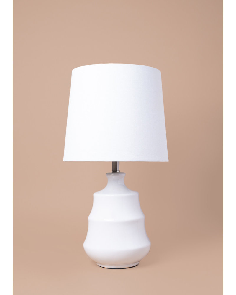 Stratum White Table Lamp