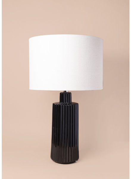Winston Black Ceramic Lamp