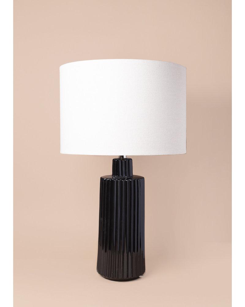 Winston Black Ceramic Lamp
