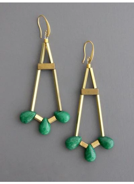 Jade Teardrop Chandelier Earrings