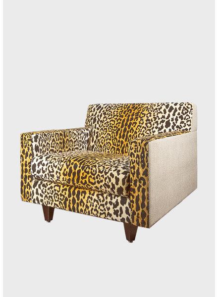 Custom Leopard Print Accent Chair