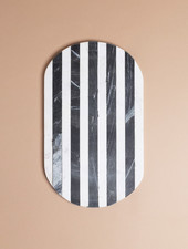 Black and White Stripe Cutting Board