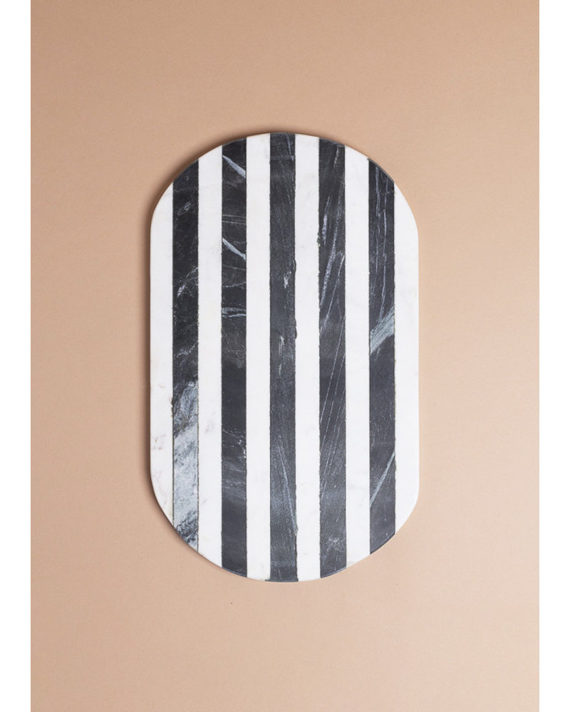 Black and White Stripe Cutting Board