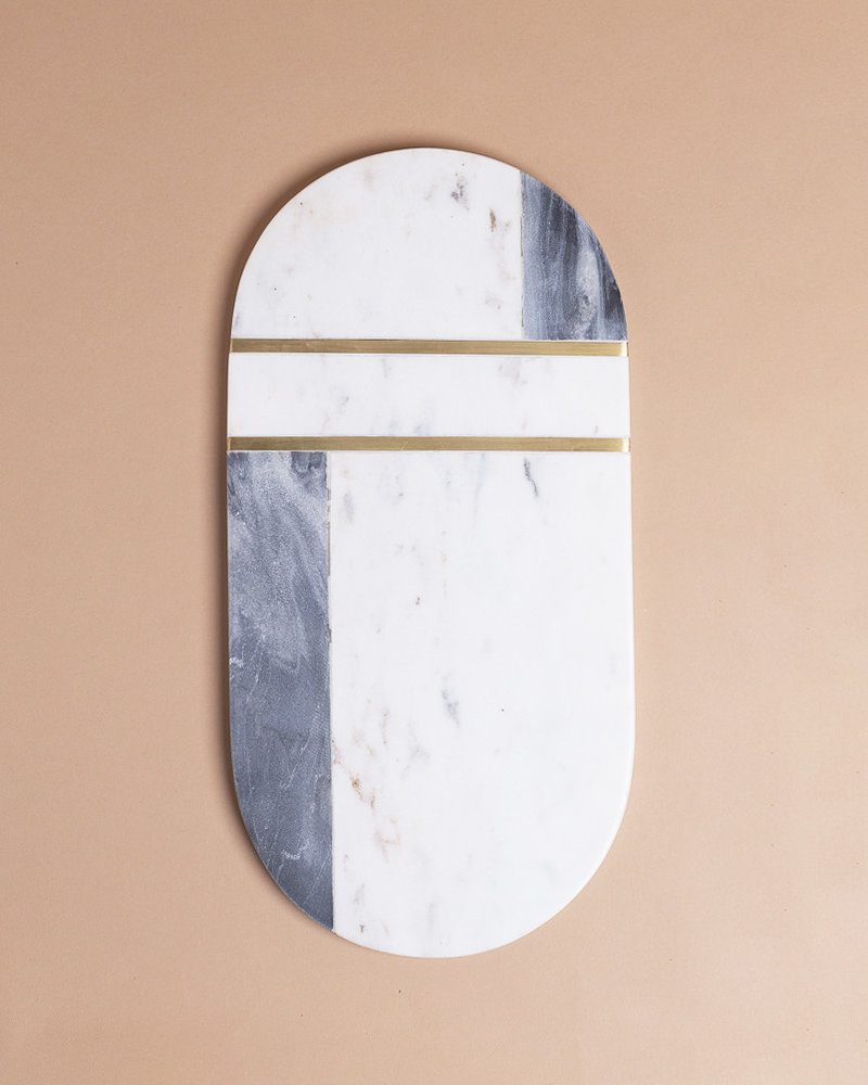 Marble and Brass Cutting Board