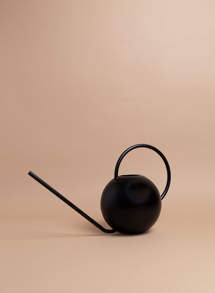 Black Circular Watering Can