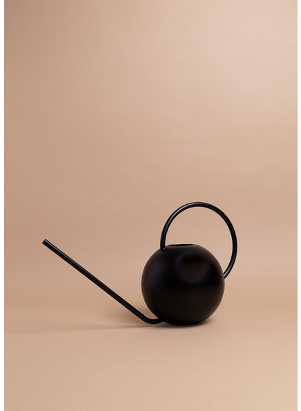 Black Circular Watering Can