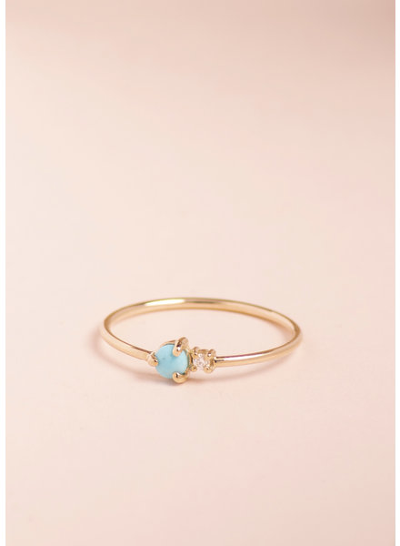 Sibling Turquoise and Diamond Ring