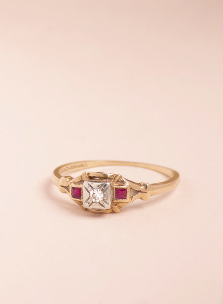 Victorian  Diamond and Ruby Ring
