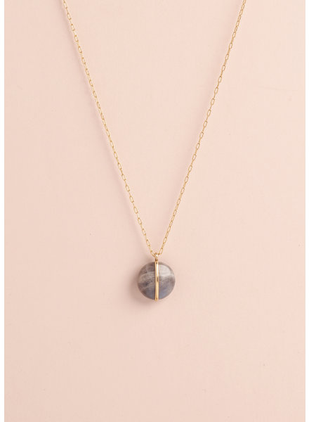 Black Glass Necklace