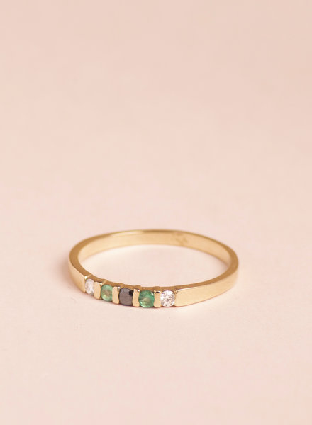 Emerald Vivian Ring - Size 8