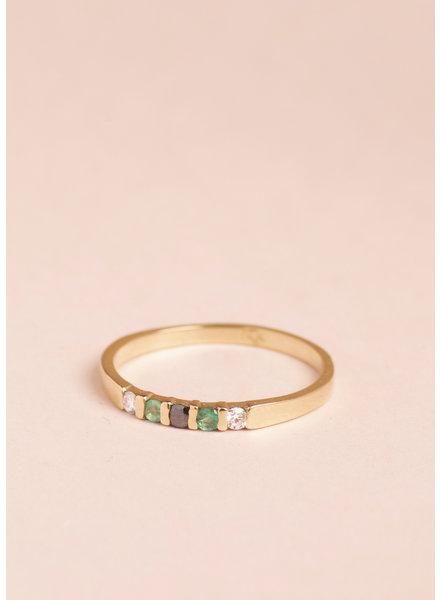 Emerald Vivian Ring - Size 8