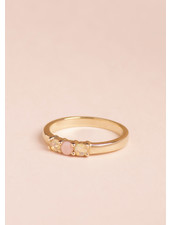 Pink Opal Kyle Ring - Size 6.5