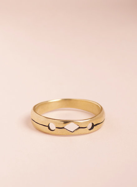 Brass Cut Out Ring - Size 5