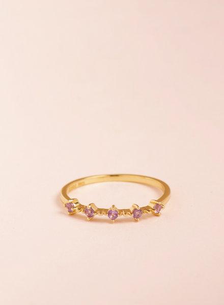 Amethyst Celestial Ring - Size 5
