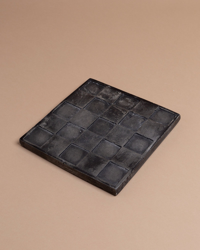 Square Embossed Cement Trivet