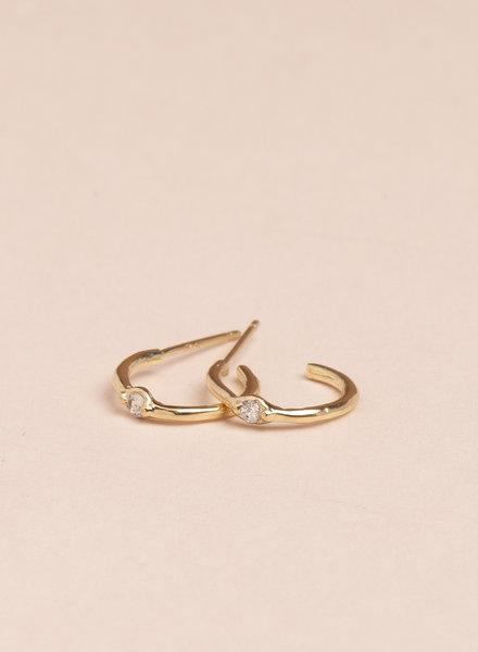 Etoile Hoop Earrings