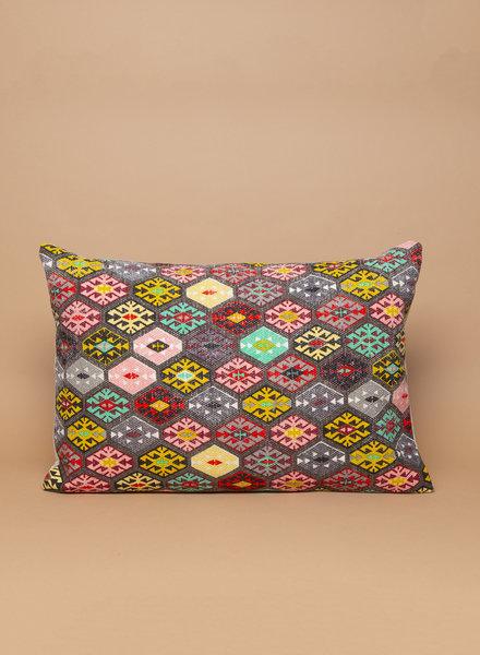Cotton Dhurrie Lumbar Pillow