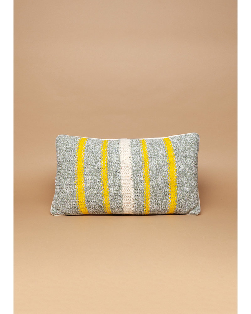 Handmade Yellow Striped Pillow