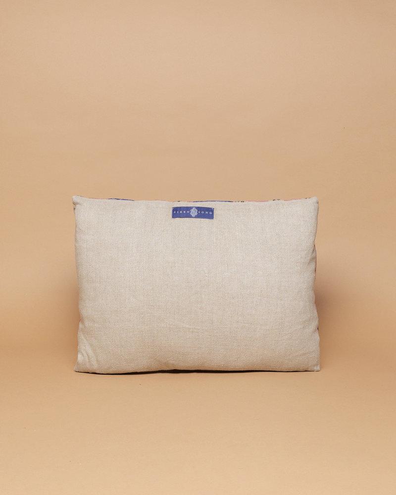 Dakota Blue & Pink Patchwork Pillow