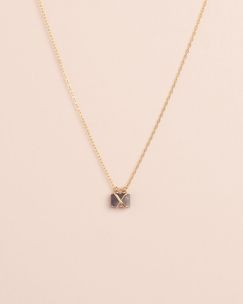 Mother Of Pearl Rectangle Necklace