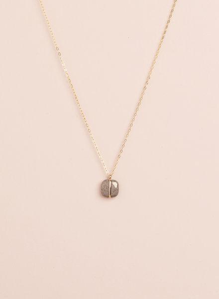 Square Pyrite Necklace