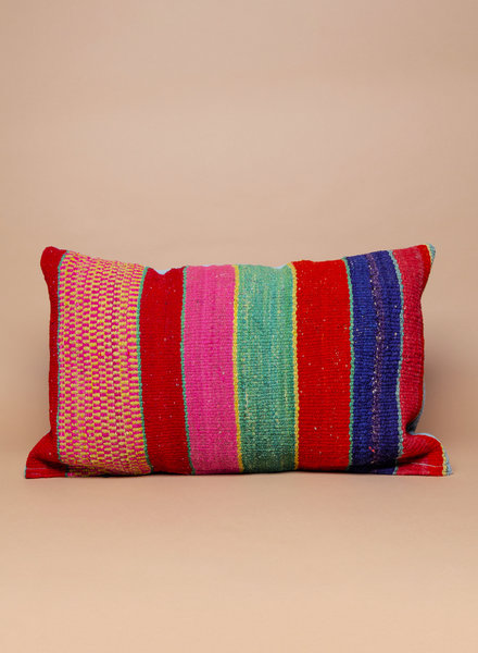 "Rainbow Peruvian Pillow - 18"" x 26"""
