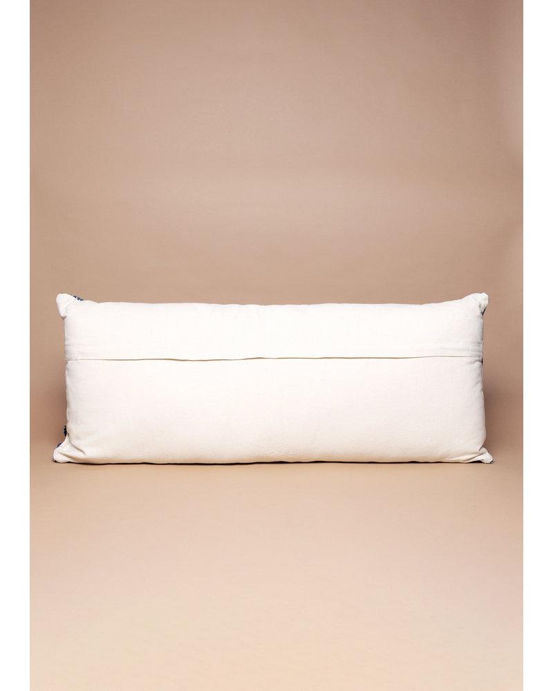 Indigo Batik Lumbar Pillow