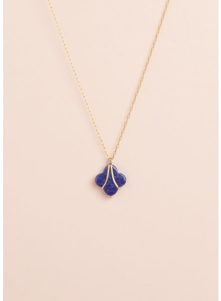 Lapis Clover Necklace