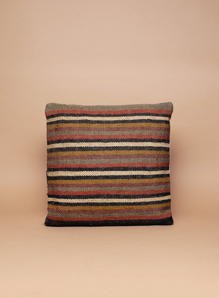 Autumn Striped Kilim Pillow