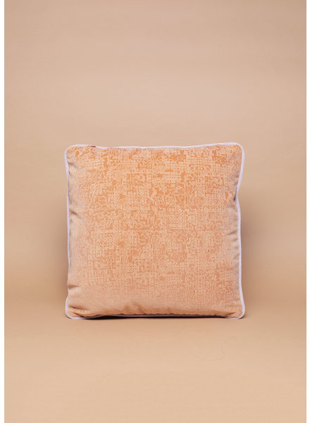 Eskell Blush and Orange Reversable Velvet Pillow