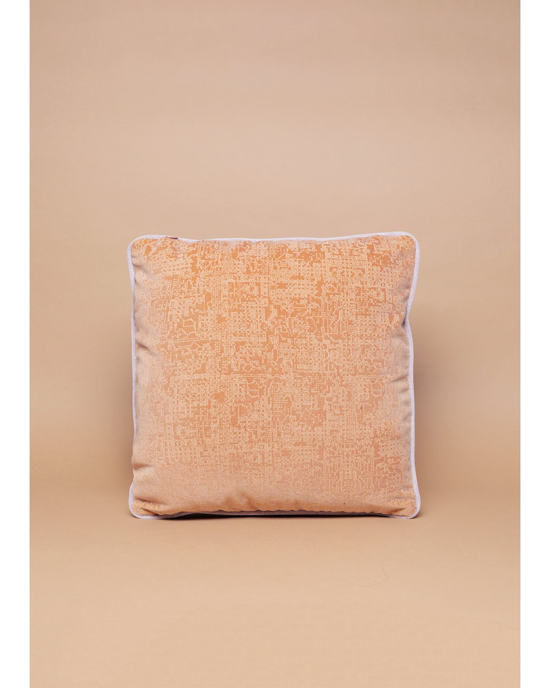 Eskell Blush and Orange Reversable Velvet Pillow